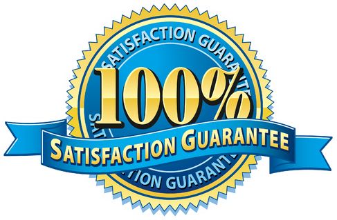 100 satisfaction guarantee badge